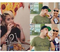 Paris and Prince Jackson chowing down