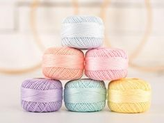 Presencia Pearl Cotton Thread Box Pastel