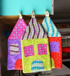 Tutorial: Kitschy Houses Hot Pads