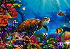 Turtle Domain Digital Art
