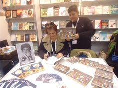 Sessao de Autografos Feira do Livro de Genebra 2013- Livros LEA E A LUA, BENTO BENTINHO e THE ENCHANTED LIBRARY, por Deucelia Maciel.