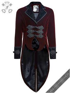 Y-635,y635,y-635rd,red,gothic,mens gothic clothing,romantic,punk rave,punkrave,palace,elegant,aristocrat