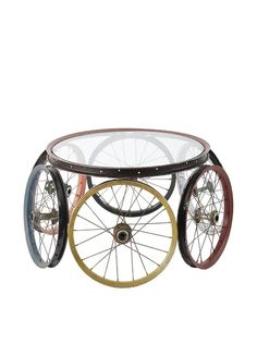 1000 images about function form art furnishings on for Bicycle wheel table
