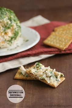 Southwestern Cheese ball - cheeseball with the southwestern of green chiles and cilantro.   I'm guessing that by now, the day before Thanksgiving, you have the turkey bought and thawing, or brining, or waiting patiently for the oven first thing in the morning. Sides have been decided – and as many [...]
