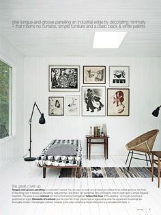 art, daybed, mid-century pieces. photography sharyn cairns for real living via Poppytalk: Real Living Sneak Peek