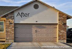 Love and Laundry: Garage Door Makeover