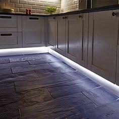 Flexible LED strip lighting for the kitchen from Hafele jhauto. - Flexible LED strip lighting for the kitchen from Hafele jhauto. Kitchen Lighting Design, Interior Lighting, Home Lighting, Lighting Ideas, Led Kitchen Lighting, Bathroom Lighting, Task Lighting, Under Counter Lighting, Led Cabinet Lighting