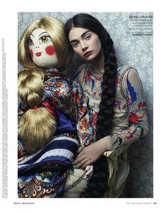 'Toy Story' Vogue Russia, December 2012, Vogue Russia Antonina Vasylchenko (Model) Danil Golovkin (Photographer) Olga Dunina (Fashion Editor/Stylist)