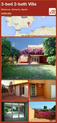 3-bed 2-bath Villa in Mojacar, Almeria, Spain ►€299,000 #PropertyForSaleInSpain