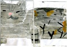 Rose Wylie Grey Bunt Sideways, 2009 Part of cat's Vet - bill series. x x watercolour on paper Shades Of Grey, 50 Shades, Rose Wylie, Cat Vet, Number 10, Visual Arts, Painters, Art Work, Watercolour