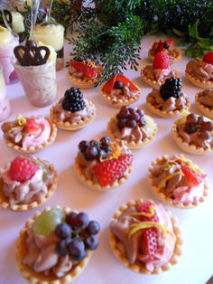 Mini Desserts. Please visit A Silverware Affair at http://www.asilverwareaffair.net for all of your event/catering needs. #Catering #Dessert #Chattanooga #Event #Food
