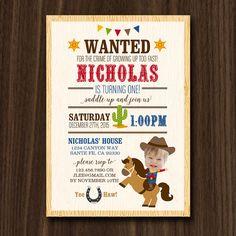 Cowboy Pony Invitation