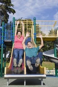 How to Build a Metal Slide for a Playground....wonder if this would be better than plastic?