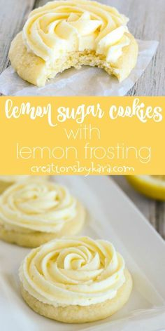 Simply scrumptious Lemon Sugar Cookie Recipe-topped with fresh lemon frosting, t. - Simply scrumptious Lemon Sugar Cookie Recipe-topped with fresh lemon frosting, these lemon sugar co - Cake Mix Cookie Recipes, Chip Cookie Recipe, Chocolate Cookie Recipes, Cake Mix Cookies, Yummy Cookies, Cookies Et Biscuits, Chocolate Chip Cookies, Cookie Tray, Cake Mixes
