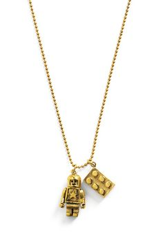 I love this lego necklace.  I don't care much for the fact that it is gold, but the idea is :D