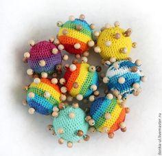 Развивающие игрушки ручной работы. Ярмарка Мастеров - ручная работа Тактильный мячик. Handmade.