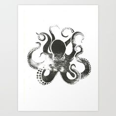 Octopus Art Print by Ryan Hodge Illustration