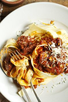 NYT Cooking: This wonderful recipe from Jamie Oliver is hearty and uncomplicated with a surprising pop of flavor thanks to the addition of rosemary and orange zest. Mr. Oliver prepares his in a pressure cooker, but if you don't have one, it can be cooked in a covered Dutch oven on the stove over low heat, or in a 275 degree oven, for about 3 hours. Stir occasionally.