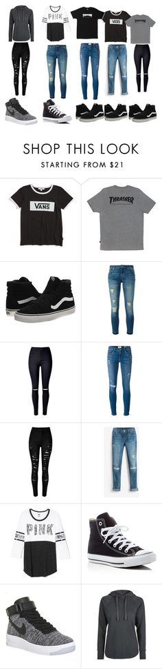 """Untitled #41"" by myajane04 on Polyvore featuring Vans, HUF, MICHAEL Michael Kors, Frame Denim, White House Black Market, Victoria's Secret, Converse, NIKE and Topshop"