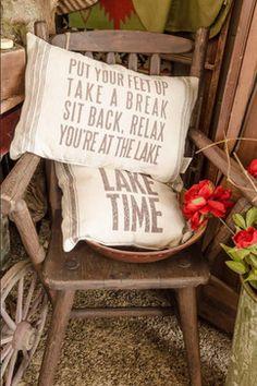 Flour Sack Pillows rustic pillows