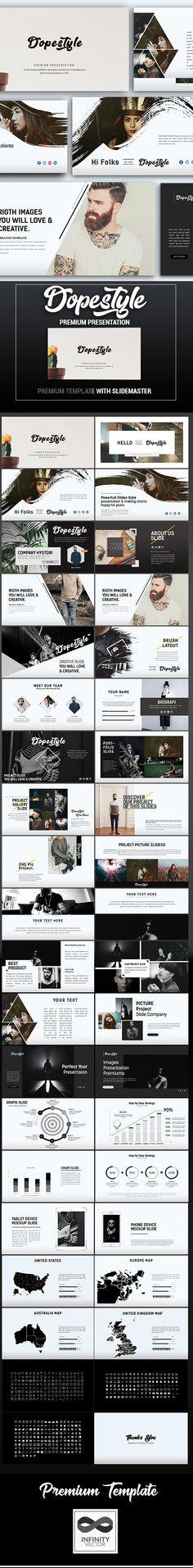 Dopestyle Premium Keynote Template - #Keynote Templates Presentation Templates