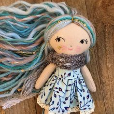 Loving this teeny girl's blue hair! I am working on pictures today so look out for 2 or 3 teeny blue pixie girls in the shop later this week. ✨ . . . #bluepixie #pixie #pixiedoll #tinypixie #teenypixie #mushroomparasols #teenydoll #tinydoll #dollmaker #handmadedoll #clothdolls #handmadedolls