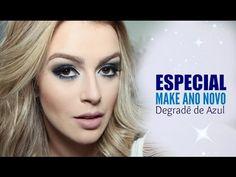 Maquiagem para Ano Novo Azul Degradê por Mariana Saad