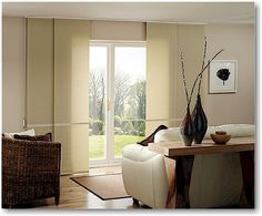 Panel Track Sliding Window Treatments Are Available From The Blind Alley In Bellevue Washington