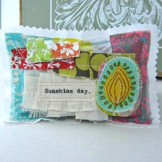 Lavender Sachet  Appliqued Sachet Small pillow by tracyBdesigns, $6.95