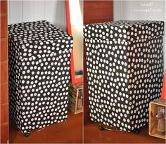 Caixa de papelão encapada com tecido - Cesto de roupa