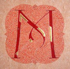 Initial M by Benoît Furet, calligraphe