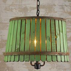 Bushel Basket Lantern green