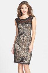 Best Sue Wong Mixed Lace Sheath Dress OrderNow | Best Shop Shopping Online