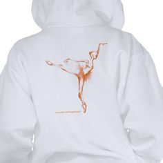 hooded ballet sweatshirt