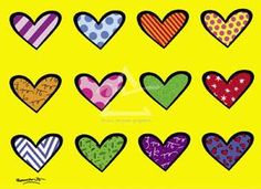 Romero Britto Hearts----again, could you use magazines, papers, all sorts of paper?