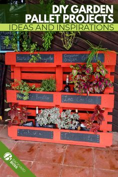 Wood pallets are easy to come by and they can be used to create almost anything. Here are a few of our favorite pallet garden ideas to inspire you. Backyard Furniture, Backyard Projects, Garden Projects, Backyard Patio, Pallet Projects, Furniture Ideas, Garden Ideas, Herb Garden Pallet, Herb Garden Design