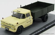 EDICOLA BONDCOL126 Skala: 1/43  CHEVROLET APACHE C30 PICK-UP ONE-TON TRUCK 1958 - 007 JAMES BOND - FROM RUSSIA WITH LOVESkala:: 1/43 Zustand: M Code: BONDCOL126 Farbe: IVORY GREEN Material: Die-Cast