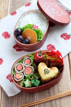 Japanese Bento Lunch (Spicy cod roe rolled by chicken tenderloin and nori seaweed, A heart-shaped sweet potato cake, Veggies)|園児の弁当