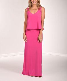 Love this Fuchsia Overlay Maxi Dress on #zulily! #zulilyfinds