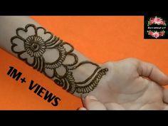 #hennaonhand #hennaputih Rakhi Special | Arabic Simple Henna Design | Easy Mehndi Design Front Hand | #111 Zara Mehendi Art Latest Finger Mehndi Designs, Black Mehndi Designs, Very Simple Mehndi Designs, Mehndi Designs Front Hand, Indian Mehndi Designs, Mehndi Designs For Beginners, Mehndi Designs For Girls, Mehndi Design Photos, Henna Designs Easy