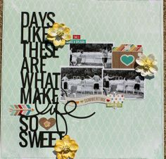 Days Like These.... ~ August Birds of a Feather Kit Co. kit