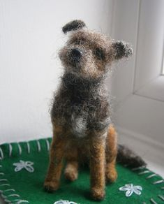 Border terrier.  I love felted stuff.  It has such character.