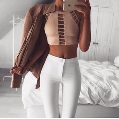 Witch outfit looks best: Trend Trendy Outfits Clothes Style Trendy Summer Outfits, Spring Outfits, Casual Outfits, Outfit Summer, Winter Outfits, Fashionable Outfits, Office Outfits, Summer Shorts, Casual Summer