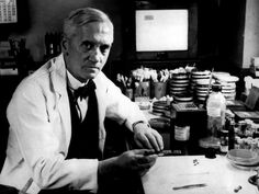 Sir Alexander Fleming is seen at London's Wright Fleming Institute. The Scottish…