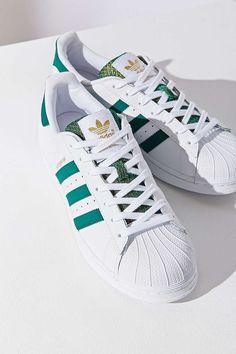 get cheap 37411 bccb9 adidas Green Superstar Sneaker