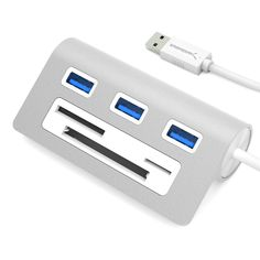 Sabrent HB-Macr Premium 3-port USB 3.0 Hub for Mac/PC with Multi-in-1 Card Reader and 12-inch Cable
