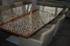 Coin epoxy table