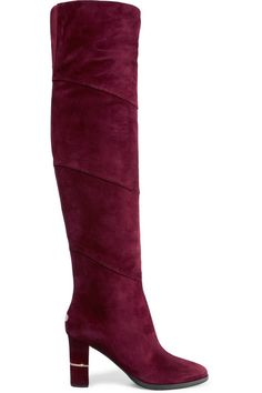 JIMMY CHOO Maira Paneled Suede Over-The-Knee Boots.  jimmychoo  shoes 308e1d5537d4