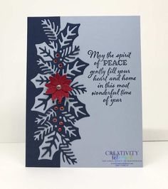Stampin Up Christmas, Christmas Tag, Handmade Christmas, Poinsettia Cards, Snowflake Cards, Christmas Border, Xmas Cards, Holiday Cards, Christmas Catalogs
