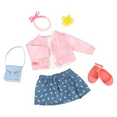Our Generation Deluxe Outfit - Pretty as a Picture American Girl Outfits, Ropa American Girl, American Girl Doll Sets, American Girl Crafts, Our Generation Doll Accessories, Our Generation Doll Clothes, Poupées Our Generation, Girl Doll Clothes, Girl Dolls